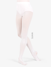 Adult Footed Tights with Smooth Self-Knit Waistband