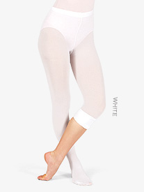 Adult Convertible Tights with Smooth Self-Knit Waistband