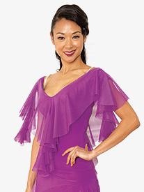 Womens Cirrus Short Sleeve Ballroom Dance Top
