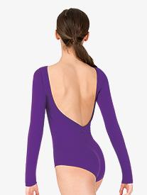 Womens V-Back Long Sleeve Leotard