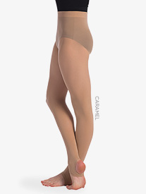 Womens Seamless Stirrup Dance Tights