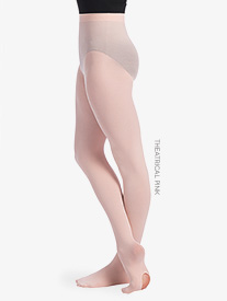 Girls Back Seam Convertible Dance Tights