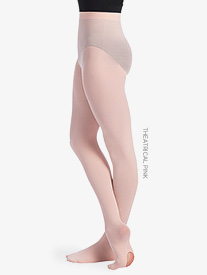 Womens Back Seam Convertible Dance Tights