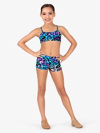 1785b404b Child Rainbow Leopard Dance Shorts (Style: TT7052C)