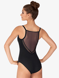 Girls Kora Mesh Back Camisole Leotard