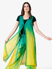 Womens Hand Painted Worship Tie Front Long Tunic