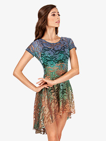 Adult Hand Painted Lace Cap Sleeve Dress