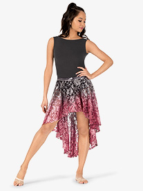 Girls Hand Painted High-Low Lyrical Skirt