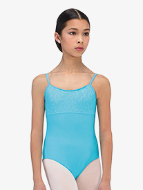 Girls Viva Embossed Camisole Leotard