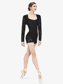 Womens Fango Knit Lace Warm Up Shorts