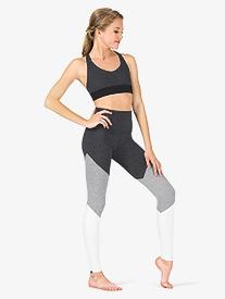Womens Three-Tone Yoga Leggings