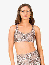 Womens Mamba Animal Print Sports Bra