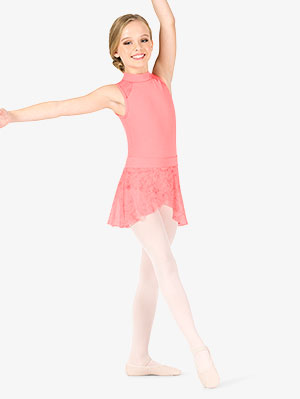 YOOJOO Womens Girls Dance Basic Lace Wrap Skirt Ballet Pull-On Skirt Dancewear Costumes