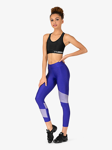 Womens Contrast Ankle-Length Fitness Leggings - Style No 1305429