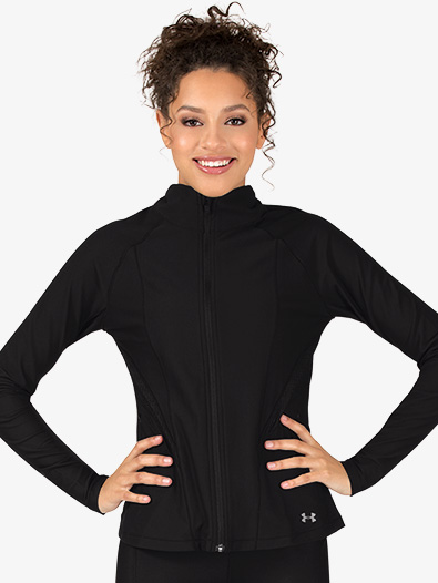 Womens Mock Neck Long Sleeve Workout Jacket - Style No 1314544