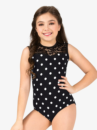 Girls Polka Dot Tank Leotard - Style No 18057C