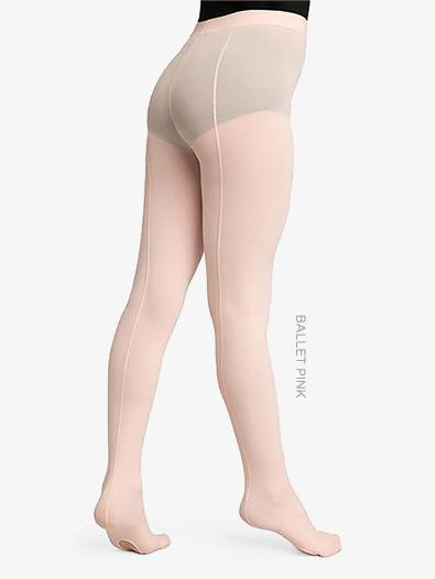 Child Ultra Soft Self Knit Waistband Back Seam Transition Tights - Style No 1918C