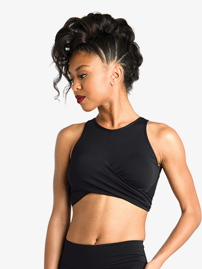 Girls Front Twist Tank Dance Bra Top - Style No 19300C