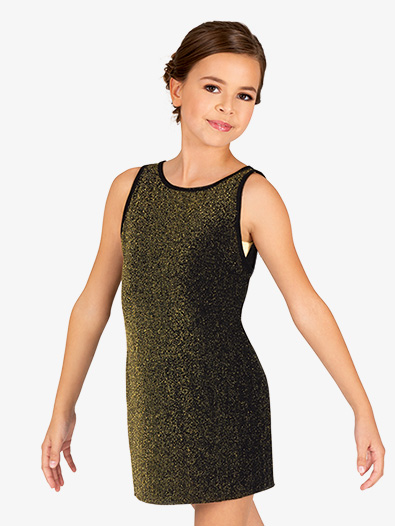 Girls Sparkle Tank Dance Dress - Style No 20207C