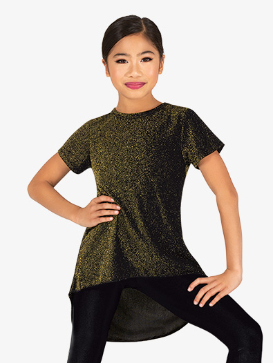Girls Sparkle High-Low Dance Top - Style No 20305C
