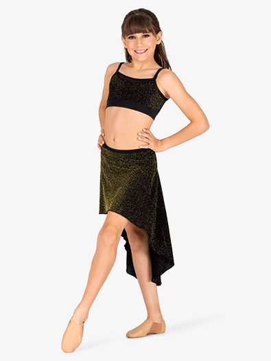 Girls Sparkle High-Low Dance Skirt - Style No 20409C