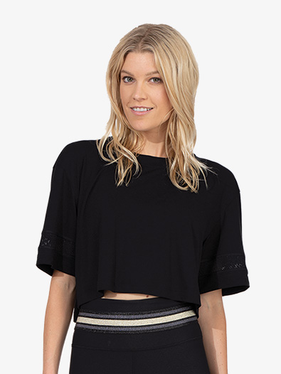 Womens Striped Crop Tee - Style No 20431353