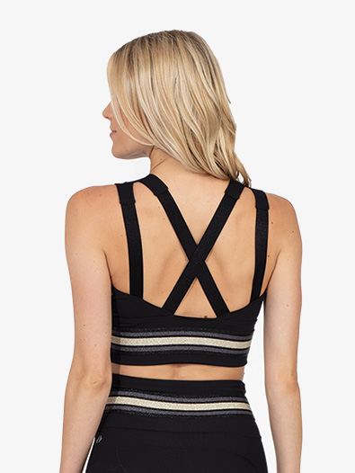 Womens Striped Crop Bra - Style No 20437354