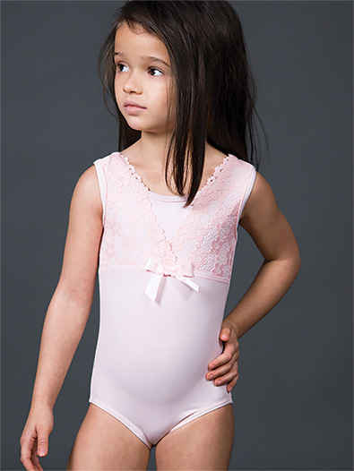 Girls Lace Tank Leotard - Style No 2161C