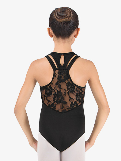 Girls Lace Back Racer Back Leotard - Style No 2402Cx