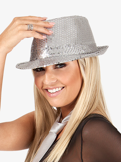 12-Pack Sequin Fedora Hats - Style No 24100x