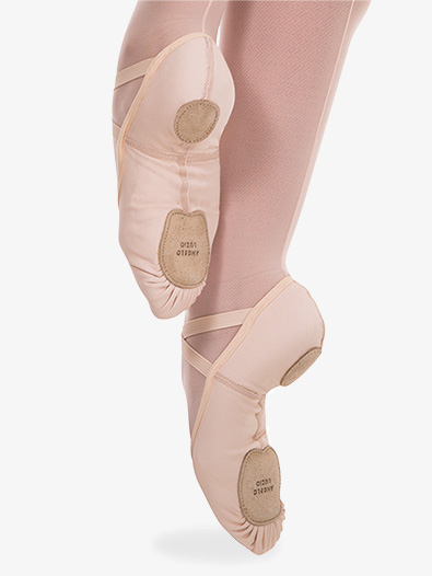 Girls 4-Way Total Stretch Ballet Shoes by Angelo Luzio - Style No 248Cx