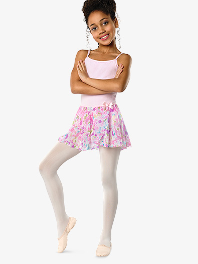 Girls Pastel Floral Pull-On Skirt - Style No 2605C