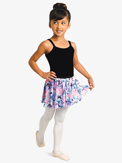 Girls Floral Print Pull-On Ballet Skirt - Style No 2750Cx