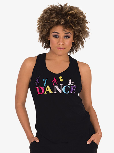 Womens Colorful Graphic Dance Tank Top - Style No 7341