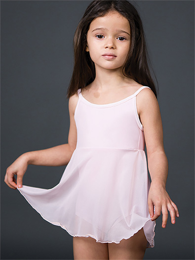 Girls Mesh Camisole Dance Dress - Style No 8009C