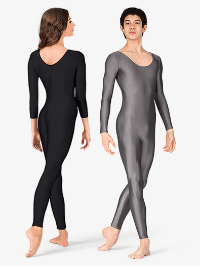 Adult Scoop Neck Nylon Long Sleeve Unitard - Style No 811