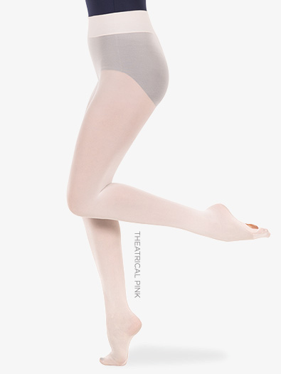 Womens Plus Size Nylon Smooth Waist Convertible Dance Tights - Style No A41X