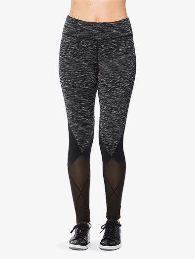 Womens Mesh Detail Workout Leggings - Style No AL0017x