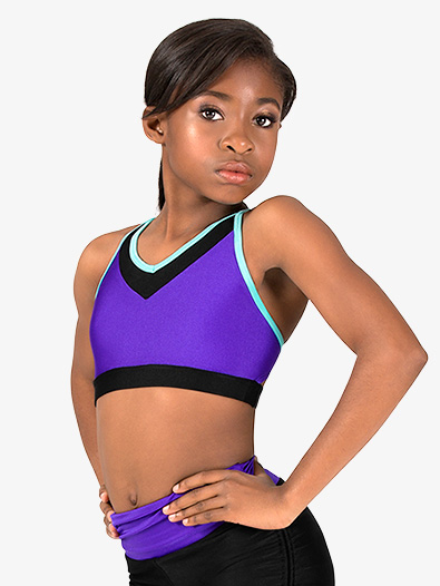 Girls X-Back Colorblock Camisole Bra Top - Style No AN120C