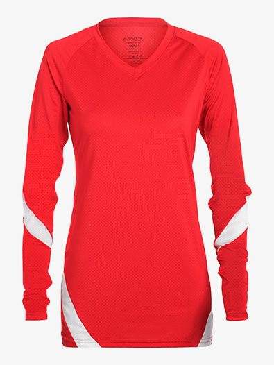 Girls Mesh Long Sleeve Fitness Top - Style No AUG1326E