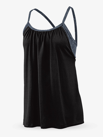 Ladies Maze Mesh Double Layer Tank Top - Style No AUG2422