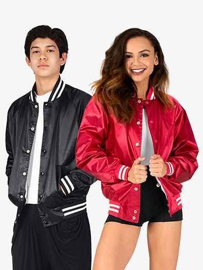 Adult Unisex Satin Sports Jacket - Style No AUG3610E