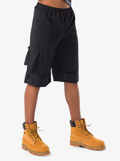 Boys Performance Cuffed Cargo Shorts - Style No AW10257C