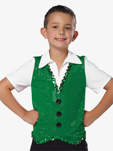 Mens Performance Sequin Dot Faux Vest Top - Style No AW11358