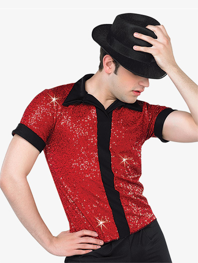 Boys Performance Sequin Short Sleeve Top - Style No AW12743C
