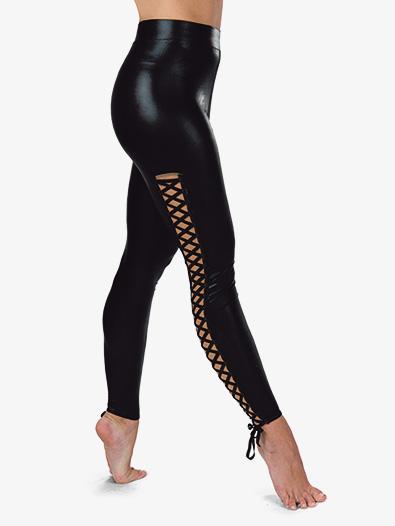 Womens Performance Faux Leather Leggings - Style No AW19357