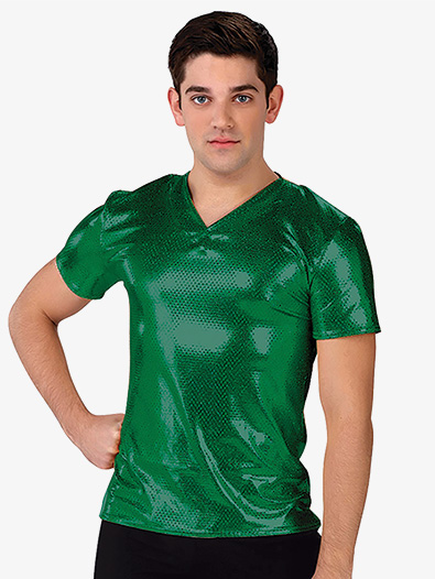 Mens Sequin Dot V-Front Performance Top - Style No AW324G