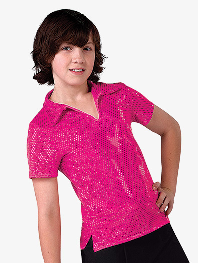 Mens Performance Sequin Dot Short Sleeve Top - Style No AW3581