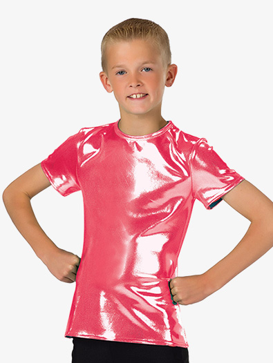 Boys Performance Metallic Short Sleeve Top - Style No AW8098C