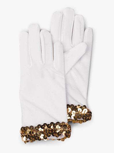 Girls White Performance Gloves - Style No AWG52C